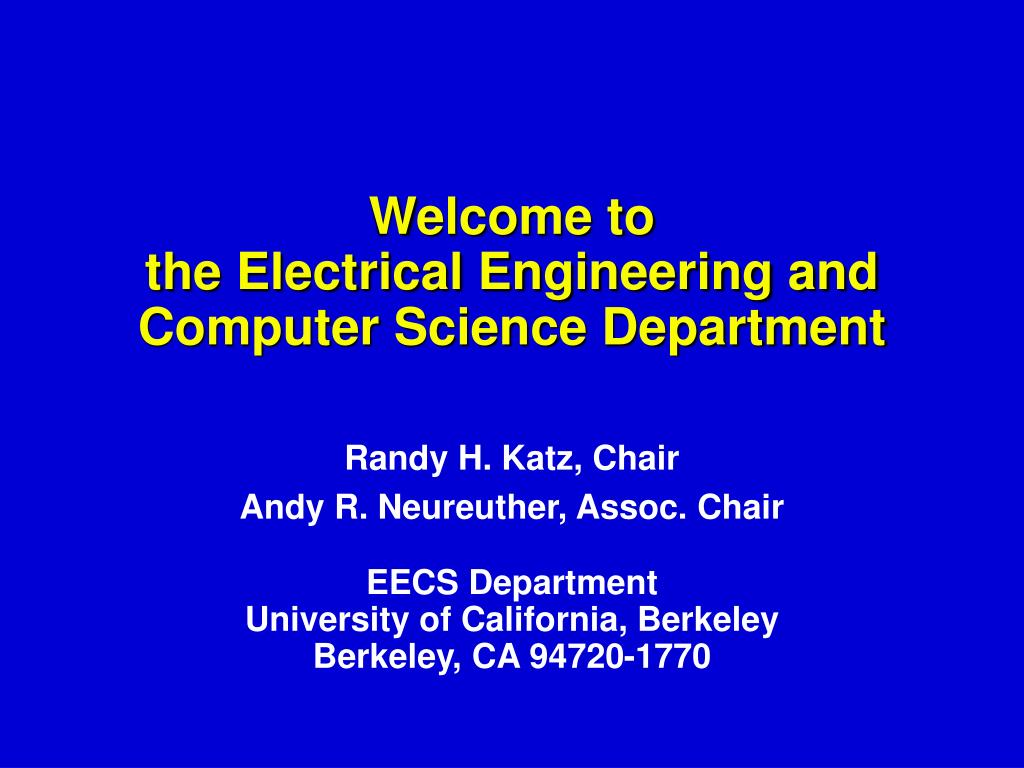 welcome to the electrical engineering and computer science department l.