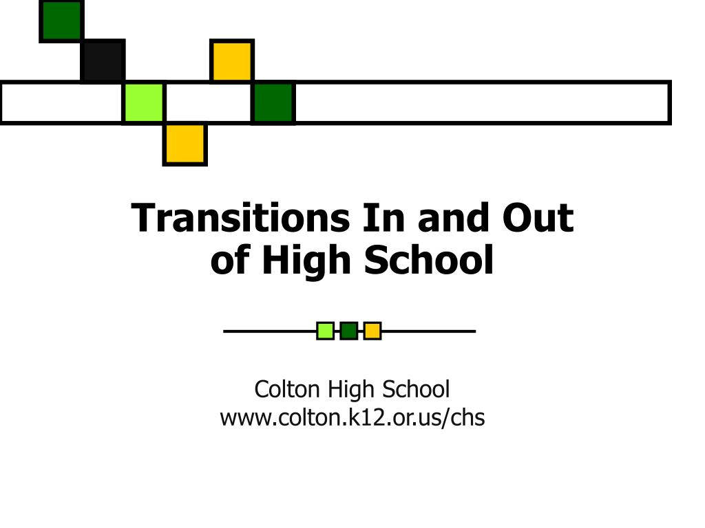 transitions in and out of high school l.