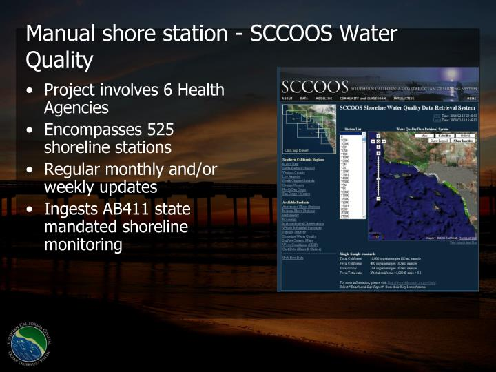 Manual shore station - SCCOOS Water Quality