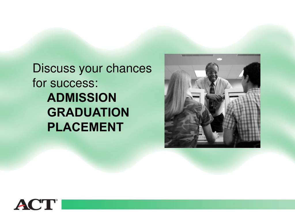 Discuss your chances for success: