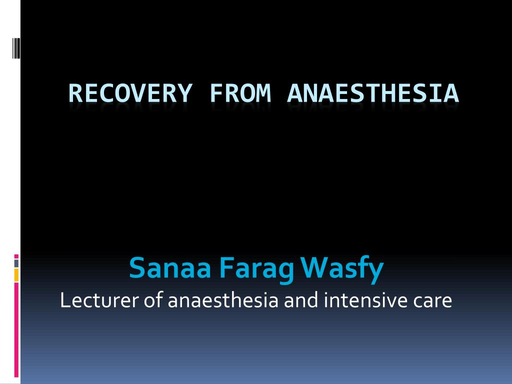 sanaa farag wasfy lecturer of anaesthesia and intensive care l.