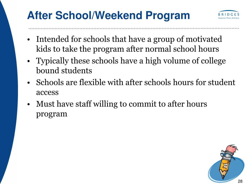 After School/Weekend Program
