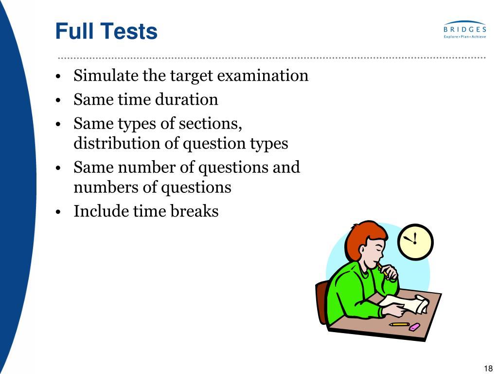 Full Tests