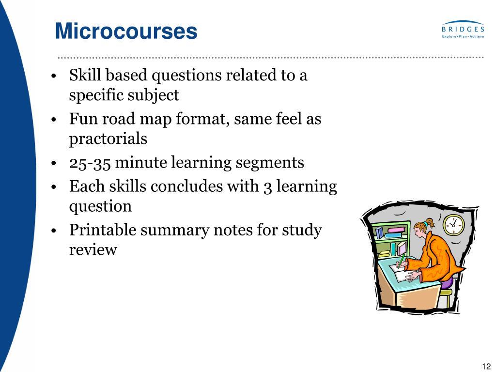 Microcourses