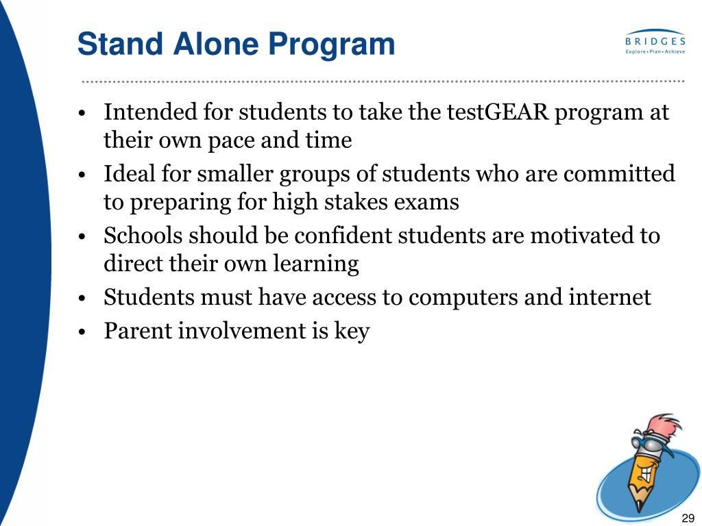 Stand Alone Program