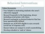 behavioral interventions62