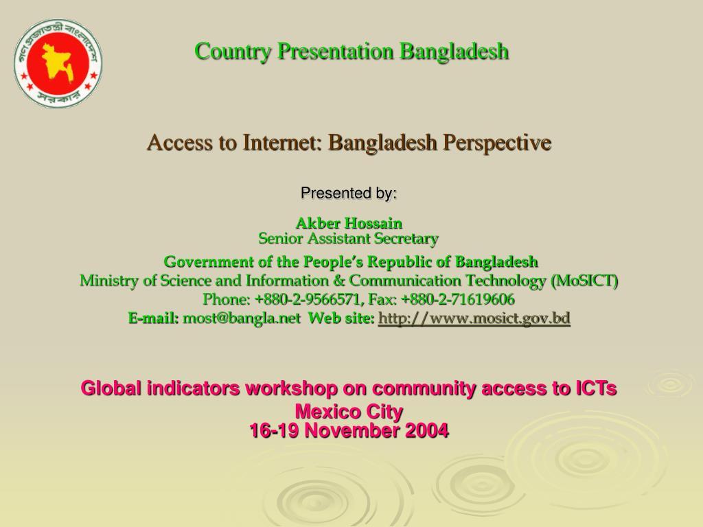 country presentation bangladesh l.