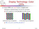 display technology color crts