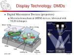 display technology dmds
