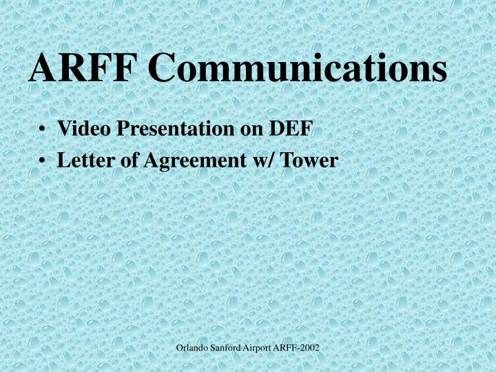 Arff communications