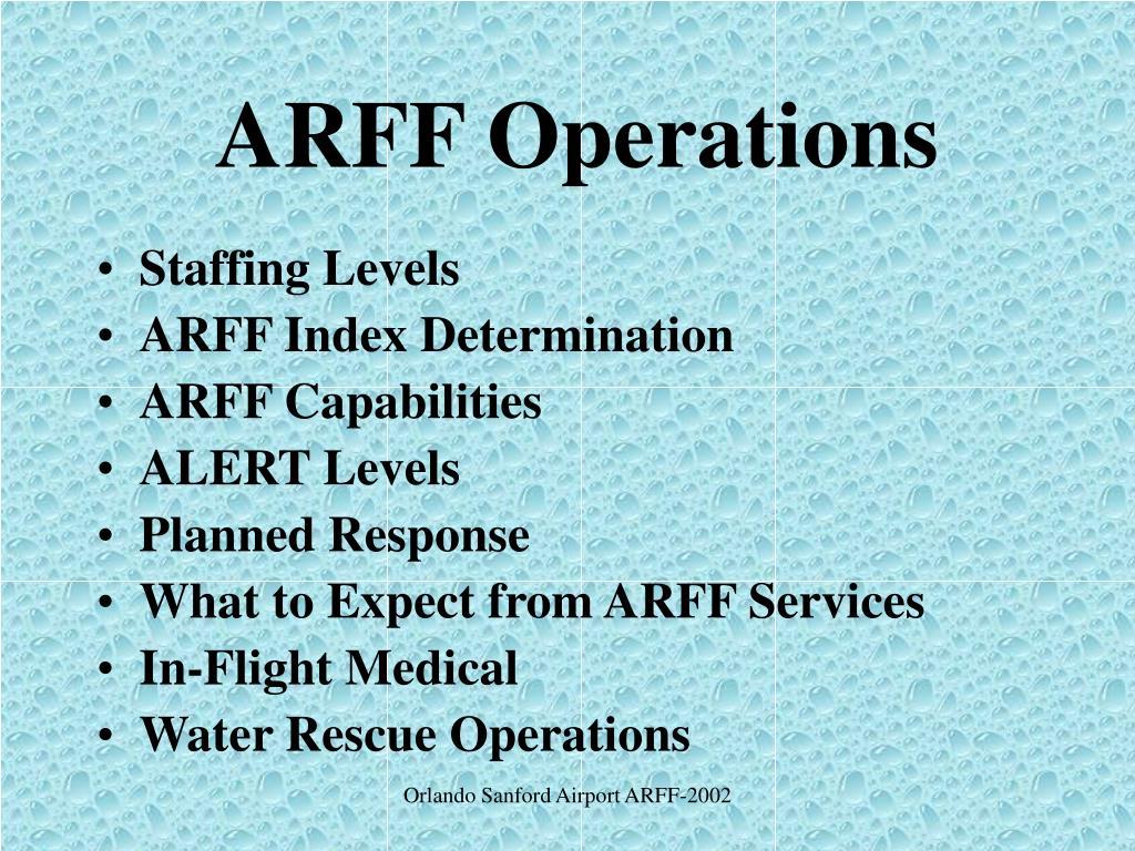 ARFF Operations