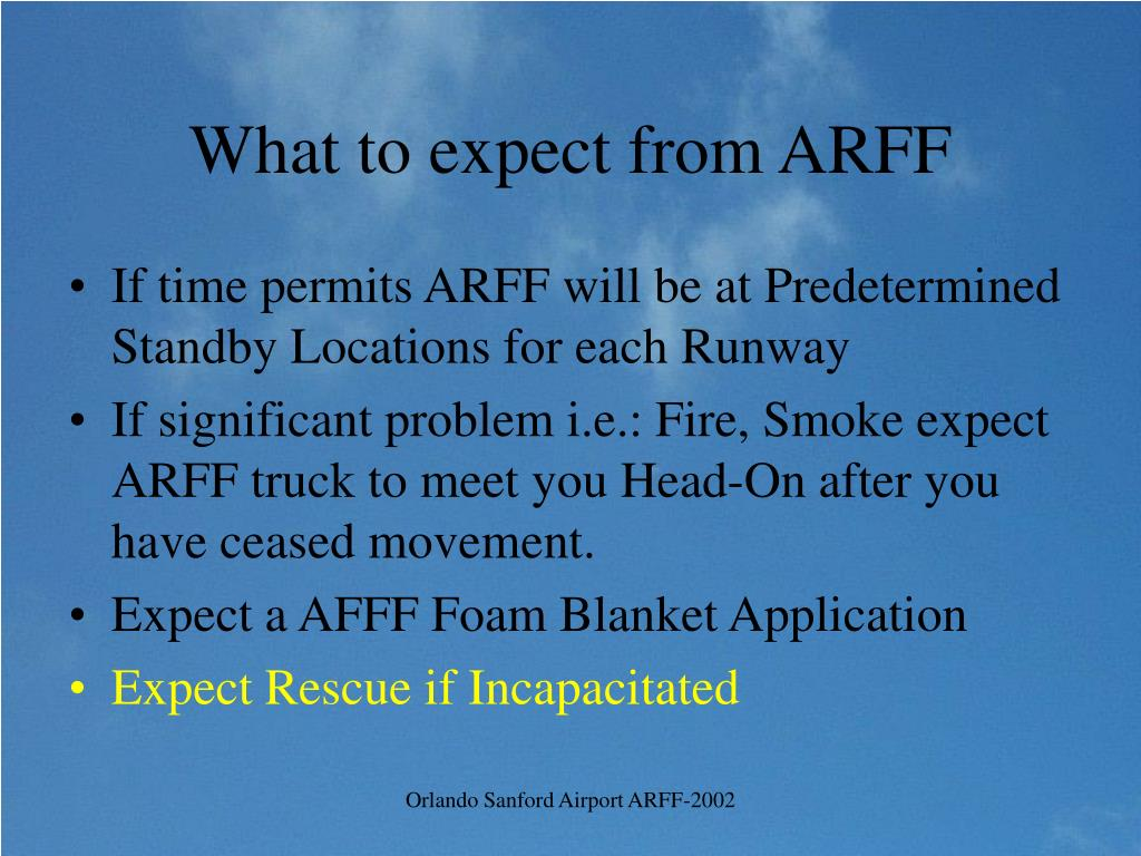 What to expect from ARFF