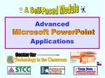 advanced microsoft powerpoint applications