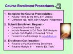 course enrollment procedures