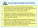 course sponsorship and funding