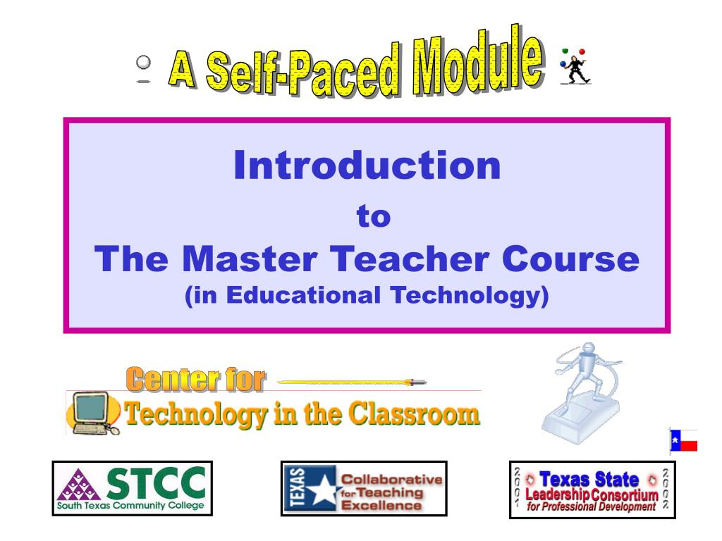introduction to the master teacher course in educational technology l.