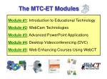 the mtc et modules