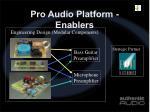 pro audio platform enablers