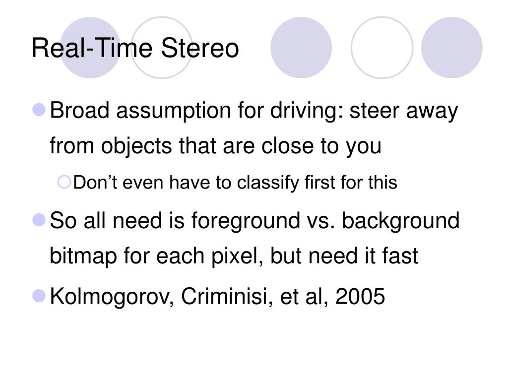 Real-Time Stereo