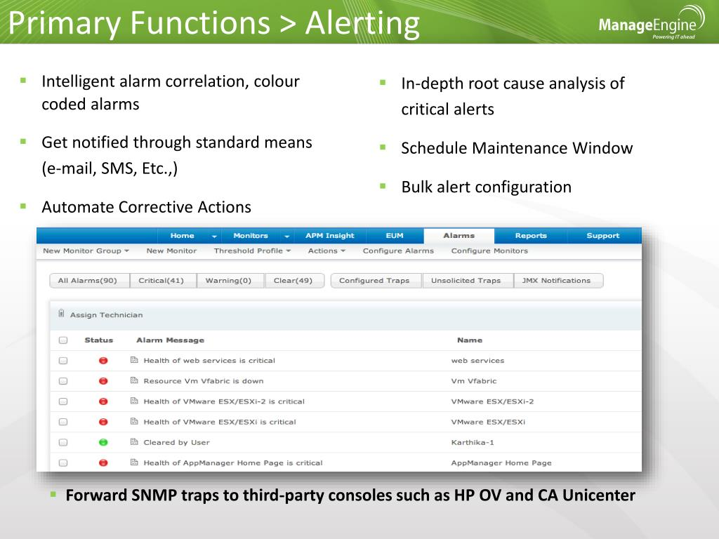 Primary Functions > Alerting