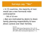 surveys say yes