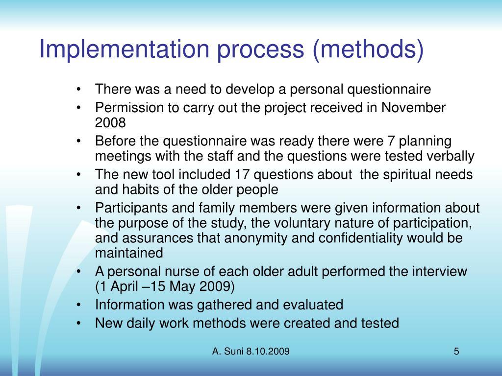 Implementation process (methods)