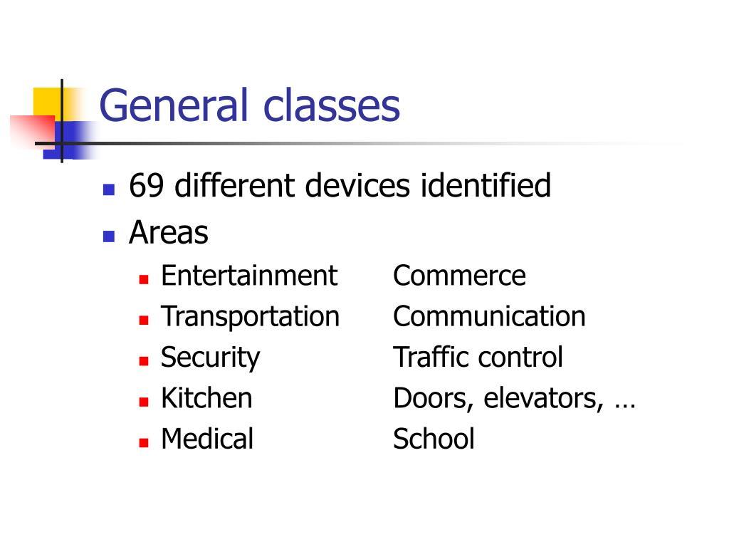 General classes