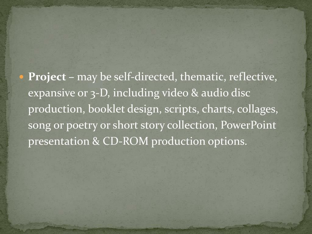 Project –