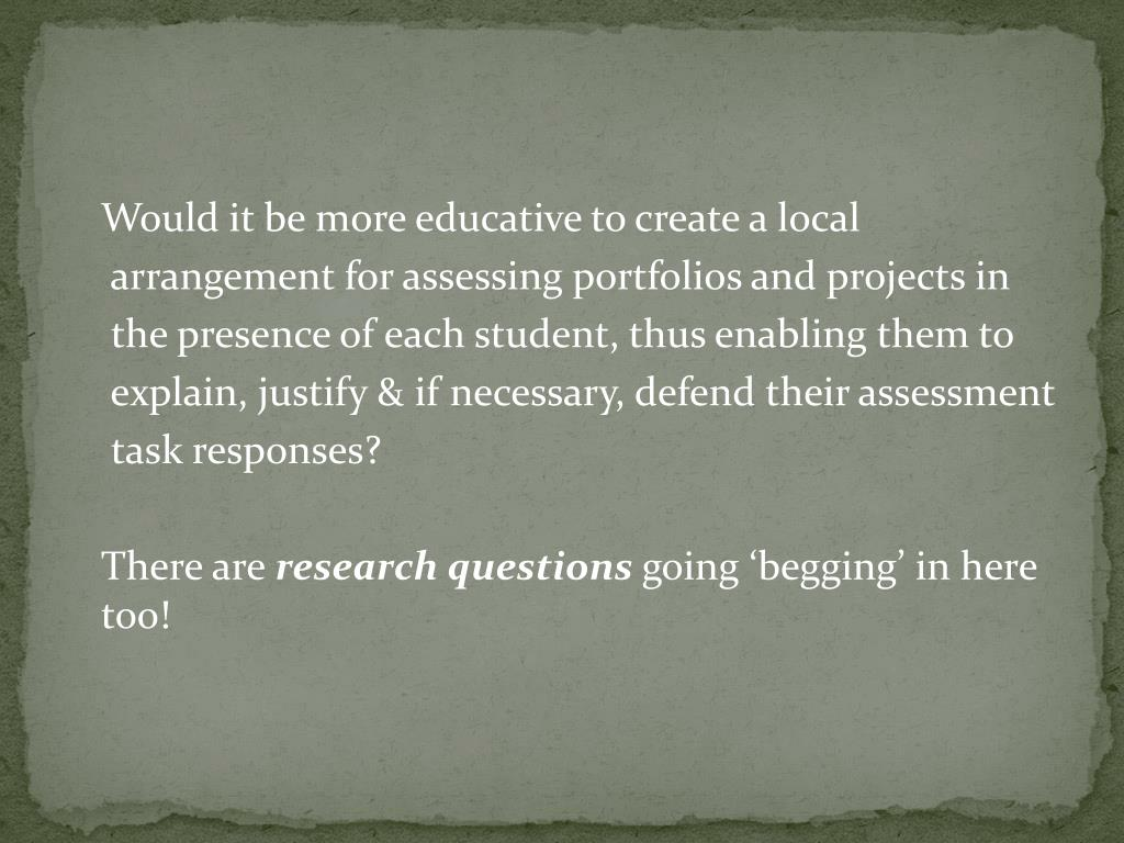 Would it be more educative to create a local