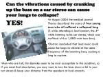 can the vibrations caused by cranking up the bass on a car stereo can cause your lungs to collapse