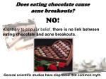 does eating chocolate cause acne breakouts