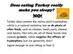 does eating turkey really make you sleepy