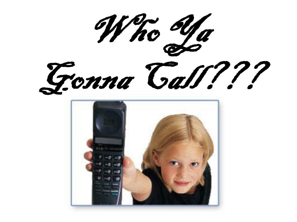 who ya gonna call l.
