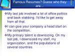 famous resumes guess who they are