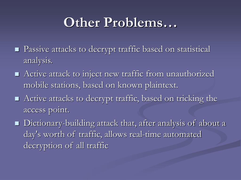 Other Problems…