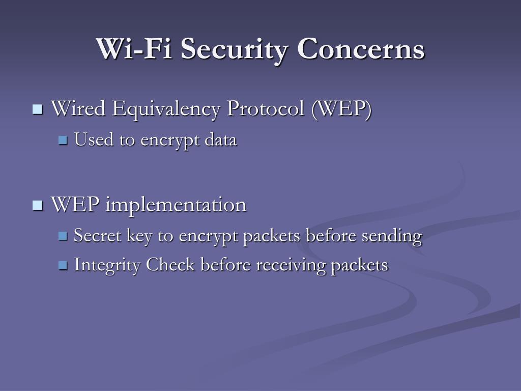Wi-Fi Security Concerns