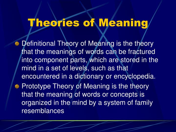 prototype theory of meaning