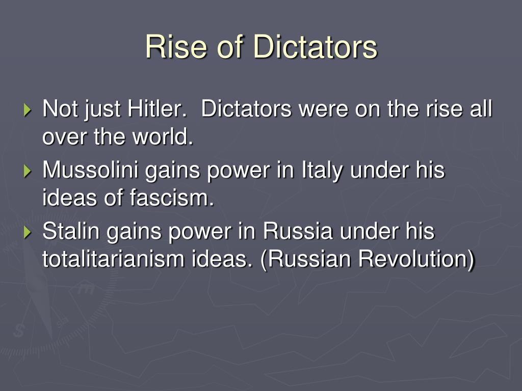 rise of dictatorship