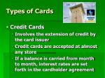 types of cards13