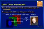 direct color framebuffer