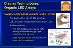 display technologies organic led arrays