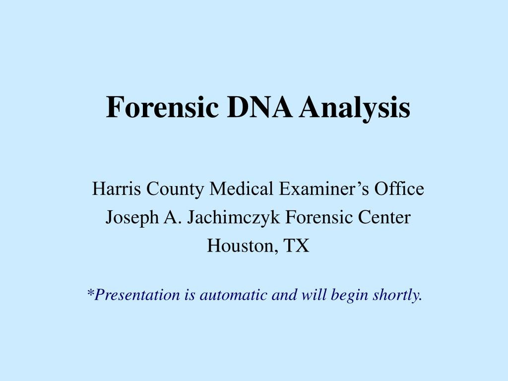 forensic dna analysis l.