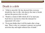 death is a debt