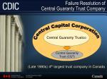 failure resolution of central guaranty trust company