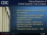 failure resolution of central guaranty trust company24