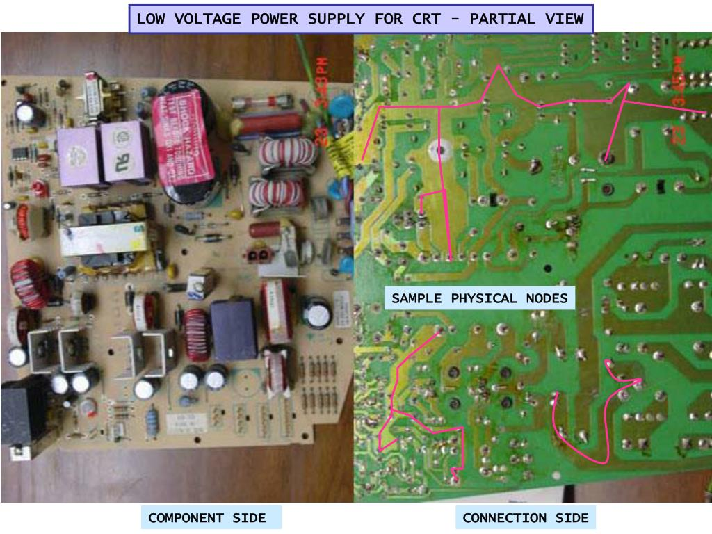 LOW VOLTAGE POWER SUPPLY FOR CRT - PARTIAL VIEW