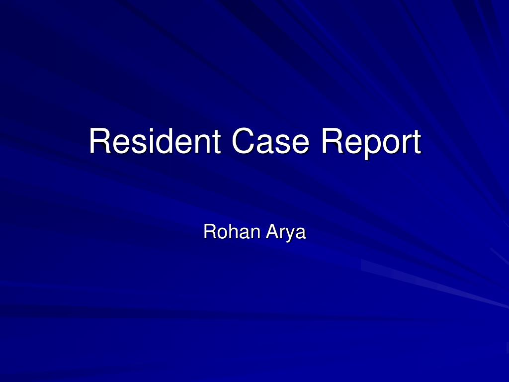 resident case report l.