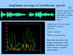 amplitude envelope of reverberant speech