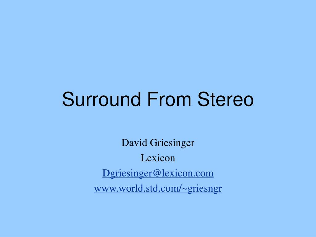 surround from stereo l.