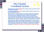 the celestial coordinate system9